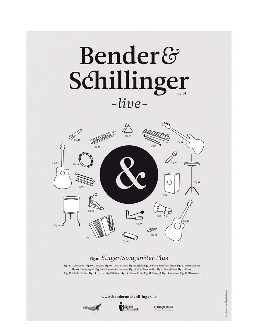 Bender & Schillinger. Plakat.